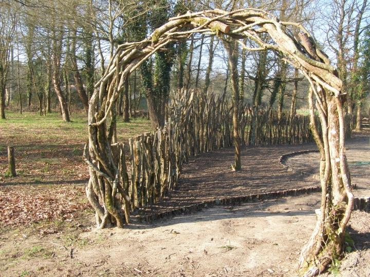 the moon gate entrance.